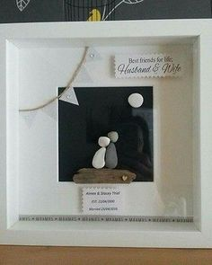 pebble art box frame personalised gift wedding mothers day birthday anniversary