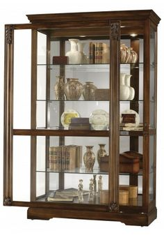 680-473 Ramsdell, Tuscany Cherry Finish, Howard Miller Curio Cabinet