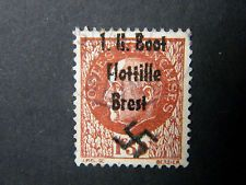Local Frankreich WW II Occupation overprint U Boot Flottille Brest used