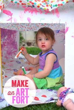 Make an Art Fort - Great Play Date Activity from Meri Cherry