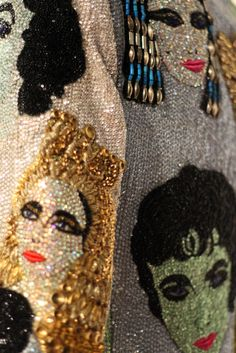 My two favorite things together... Elizabeth Taylor and Embroidery!