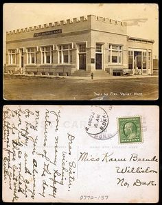 First National Bank, St. Valier MT    08-23-1910  State Archives #0770-137