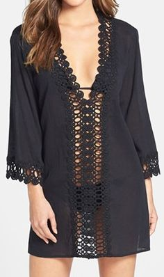 Crochet trim cover-up http://rstyle.me/n/etpdfnyg6