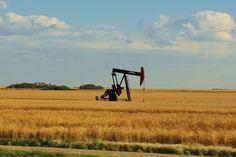 Pump jack in southeastern Saskatchewan