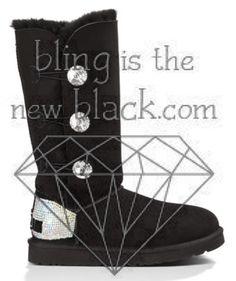 ugg bailey button bling triplet black