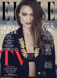 Cover girl: Olivia Wilde bared her Eres bra on the cover of ELLE's sixth annual Women in TV issue, which hits select newsstands Wednesday and nationwide on January 19