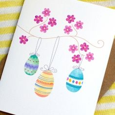 Spring Blossoms Easter Card