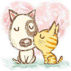 ♥ by Toru Sanogawa  This looks like Butters & Pokey!!