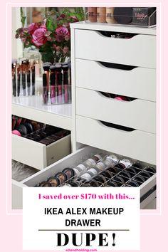 Bathroom Makeup Storage, Makeup Storage Display, Makeup Storage Drawers, Makeup Drawer, Make Up Storage, Shoe Storage, Storage Ideas, Ikea Alex Dupe, Alex Drawer Dupe