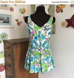SALE Mothers Day Vintage Cole of California Bathing Suit Top