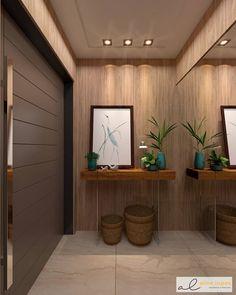 Projeto de Hall Social privativo todo revestido em madeira. . . . Render @dreamsrendering Entryway Decor, Entrance, House, Instagram, Design, Home Decor, Hall Runner, New Houses, Windows