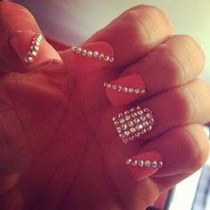 pink Diamond Nails