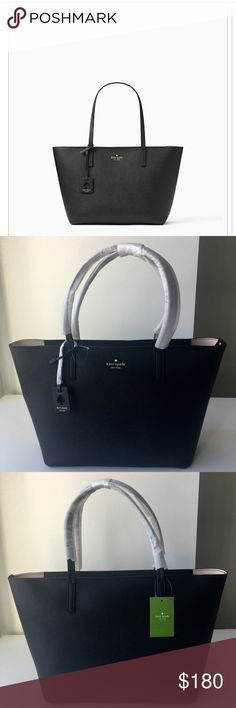 "🔥SALE🔥😍KATE SPADE Scotts Place Lida Tote SIZE 11.3""h x 15.6""w x 6.2""d drop length: 9.8"" total strap length: 19.6"" MATERIAL saffiano leather❤️ style # wkru4664 DETAILS tote with zipper closure gold foil embossed kate spade new york signature with spade dust bag not included 💯Authentic😍 kate spade Bags Totes"