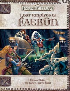 Lost Empires of Faerûn (3.5) - Forgotten Realms | Book cover and interior art for Dungeons and Dragons 3.0 and 3.5 - Dungeons & Dragons, D&D, DND, 3rd Edition, 3rd Ed., 3.0, 3.5, 3.x, 3E, d20, fantasy, Roleplaying Game, Role Playing Game, RPG, Open Game License, OGL, Wizards of the Coast, WotC, TSR Inc. | Create your own roleplaying game books w/ RPG Bard: www.rpgbard.com | Not Trusty Sword art: click artwork for source