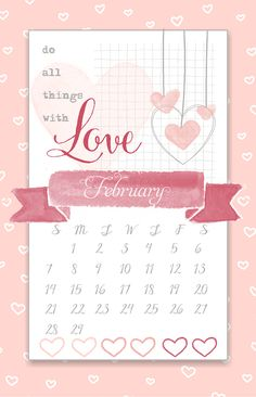 Kalender Wort, Montly Kalender