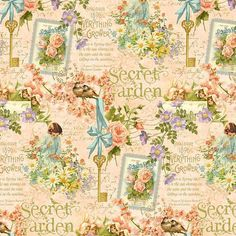 Secret Garden Quilt Fabric Posy Patch In by SewCountryAndGifts
