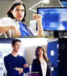 What is wrong with you two? That's not friendship. THE FLASH     BARRY ALLEN    CAITLIN SNOW    CISCO RAMON    2X12