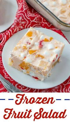 Great-Grandma's Frozen Fruit Salad This vintage recipe comes straight from my great-grandma's recipe box. It is a fun twist on marshmallow fruit salad, but even more fun because it is frozen! It is perfect for holidays or as a refreshing summer side dish. Jello Desserts, Jello Recipes, Dessert Salads, Fruit Salad Recipes, Frozen Desserts, Just Desserts, Delicious Desserts, Dessert Recipes, Fruit Dessert