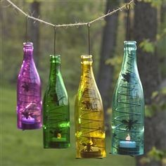 Colored Bottles Patio Lights