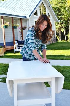 How To Paint Furniture | Antique White using Minwax Stain Marker | Ana White - Homemaker