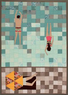 apotospitimou: Margarita Man Quilt by Modern Quilting by B on Flickr.
