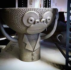 Mr Milly's making of ceramic monkey bowl