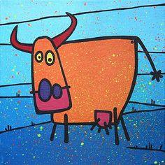 Peintures sur toile - Campagne - COW - Peintures vaches en… - Vache rouge aux… - Trames graphiques ? - Série de 6 toiles… - Vache orange au… - Vache orange au… - LoveS - Sans titre - MIcowËL...Y'a pas qu'les vaches dans la vie !!!