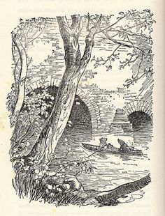 the wind in the willows.  by Kenneth Grahame illustrated by E.H.Shephard