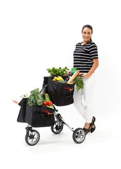 CarryMaster is a three wheeled trolley designed to make shopping much easier. It is highly maneuverable, strong and is able to carry large amounts of groceries