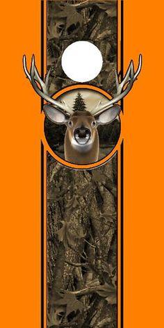 Deer Buck Camoflauge hunting Cornhole game decal wrap