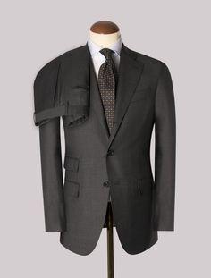 Dark Grey Superfine 130´s Wool Boheme Suit – Gabucci Grey Blue Suit, Master Tailor, Dark Grey, Suit Jacket, Trousers, Wool, Suits, Jackets, Clothes