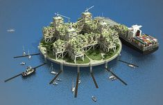 micronational ocean cities: For those following the evolution of seasteading with detached interest, a six-figure donation to the effort might be enough to make the following sink in: floating cities are not just fantasies, but real-world possibilities.