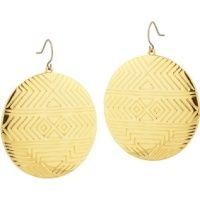 House of Harlow Gold Disc Earrings...these chic little puppies go with everything!