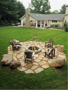 Gorgeous 43 Easy Ideas for Landscaping with Rock http://homefulies.com/index.php/2018/06/19/43-easy-ideas-for-landscaping-with-rock/