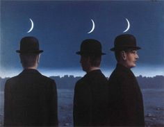 Rene Magritte - The Mysteries of the Horizon (1955)