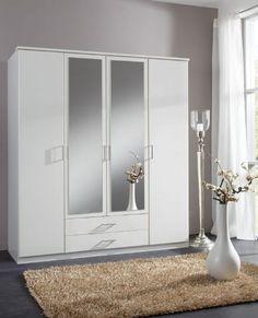 4 Door White Wardrobe - German Wardrobes