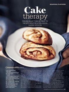 Cinnamon swirls. Styling Sanna Kekalainen, photo Reetta Pasanen. Country Homes & Interiors
