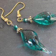 Belles boucles d'oreille perles murano faites main bcl.2498