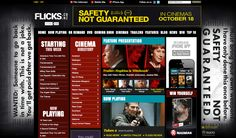 Site skin for Rialto Distribution's Safety Not Guaranteed on www.Flicks.co.nz