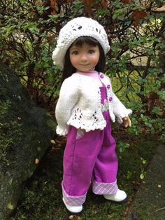 """FLORAL EASTER EGGS!  Overalls by Tuula fits 13"""" Effner Little Darling to a """"t""""! #Unbranded"""