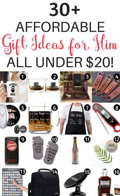 Christmas gifts for him- boyfriend, husband, brother, or any guys in your life. Find practical and unique Christmas gifts for him. Cheap Gifts For Boyfriend, Gifts For Boyfriend Long Distance, Birthday Gifts For Boyfriend Diy, Diy Gifts For Dad, Best Gifts For Him, Unique Gifts For Him, Birthday Gift For Him, Best Birthday Gifts, 31 Gifts