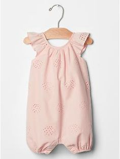 £14.95 Eyelet flutter one-piece | Gap