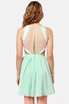 Hotter Than It Looks Mint Lace Dress at LuLus.com!