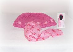 Pink Poodle Crochet Head Hugger Cap Red Heart Beat Scarf Valentine's Day Red Hat Society Cancer Hugger Crochet Cap Beanie Crochet Fashion by ICreateAndCollect on Etsy