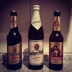 Petite sélection de #bière de #Berlin. Mmmh, laquelle vais-je goûter ce soir ? :) #Pils #MadeInBerlin