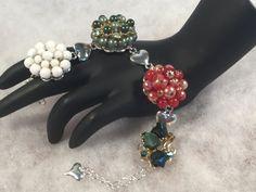 UpCycled Vintage Jewelry Bracelet 7 by WhimsicalAddictions on Etsy