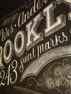 Custom chalk lettering by Dana Tanamichi