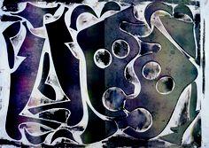 Philip Taaffe - Anthology (Azzurra) - 2009 - Mixed media on canvas - 71 x 99 cm