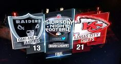 Week 14. Raider 13 - Chiefs 21 Go Chiefs baby!!!