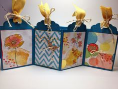 Video Tutorial: Easy Scalloped Tag Concertina Card